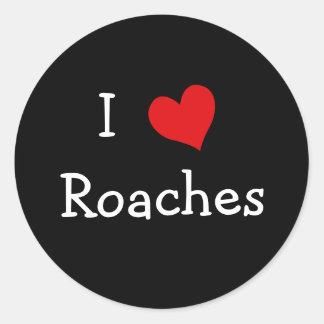 I Love Roaches Classic Round Sticker