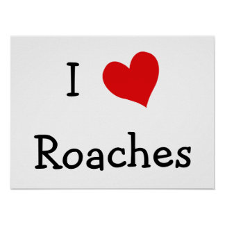 I Love Roaches Poster