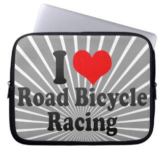 I love Road Bicycle Racing Laptop Sleeve