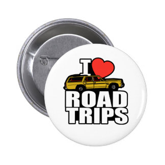 I Love Road Trips Button