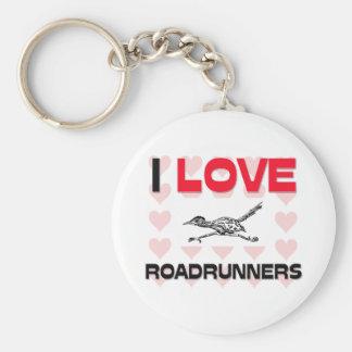 I Love Roadrunners Basic Round Button Keychain