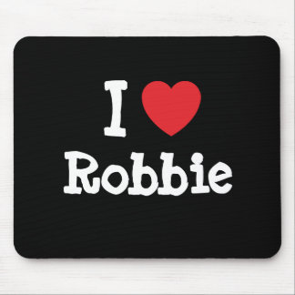 I love Robbie heart custom personalized Mouse Pad