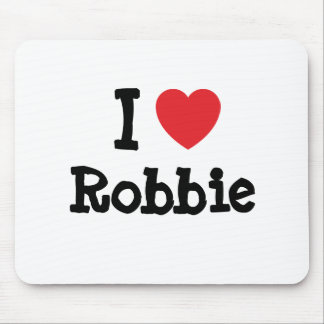 I love Robbie heart T-Shirt Mouse Pad