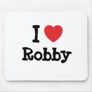 I love Robby heart custom personalized Mouse Pad