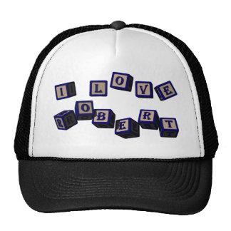I love Robert toy blocks in blue Trucker Hat