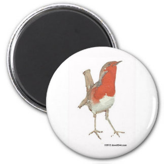 I Love Robins 2 Inch Round Magnet