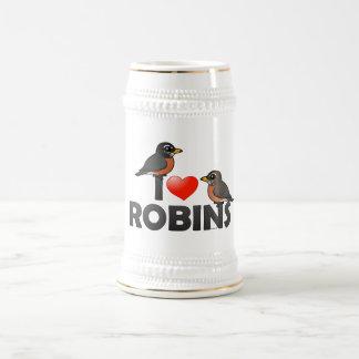I Love Robins Beer Stein