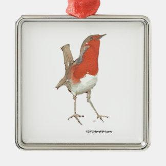 I Love Robins Christmas Ornament