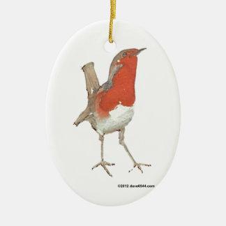 I Love Robins Christmas Ornaments