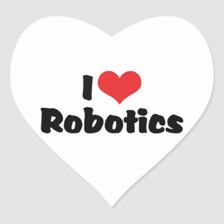 I Love Robotics Heart Sticker