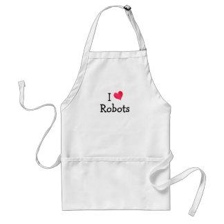 I Love Robots Adult Apron