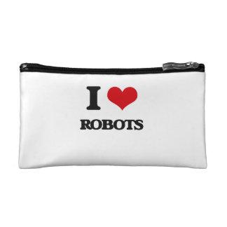 I Love Robots Cosmetic Bags
