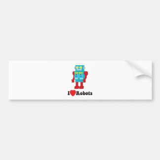 I Love Robots! Bumper Sticker