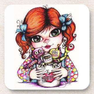 I Love Robots Coasters