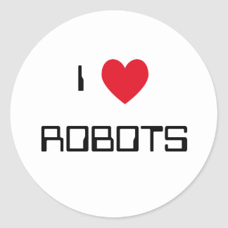 I Love Robots Stickers