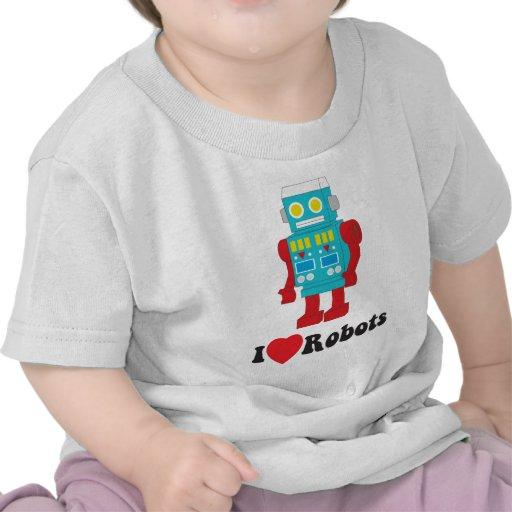 I Love Robots! T Shirt