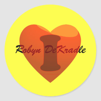 I love Robyn DeKradle (Robbing the cradle) Round Stickers