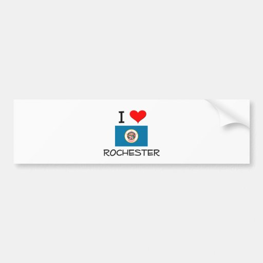 I Love Rochester Minnesota Car Bumper Sticker
