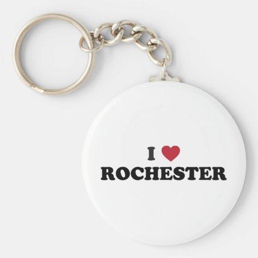 I Love Rochester Minnesota Basic Round Button Keychain