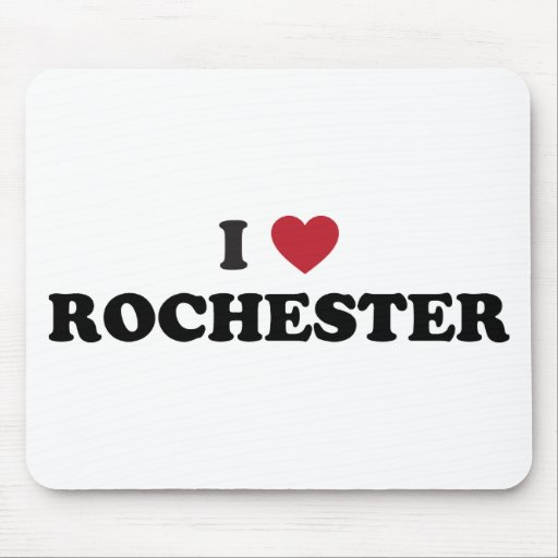 I Love Rochester Minnesota Mouse Pad