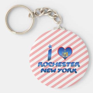 I love Rochester, New York Basic Round Button Keychain