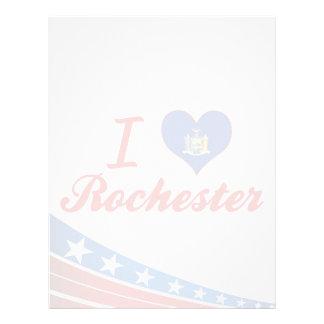 I Love Rochester, New York Letterhead Design