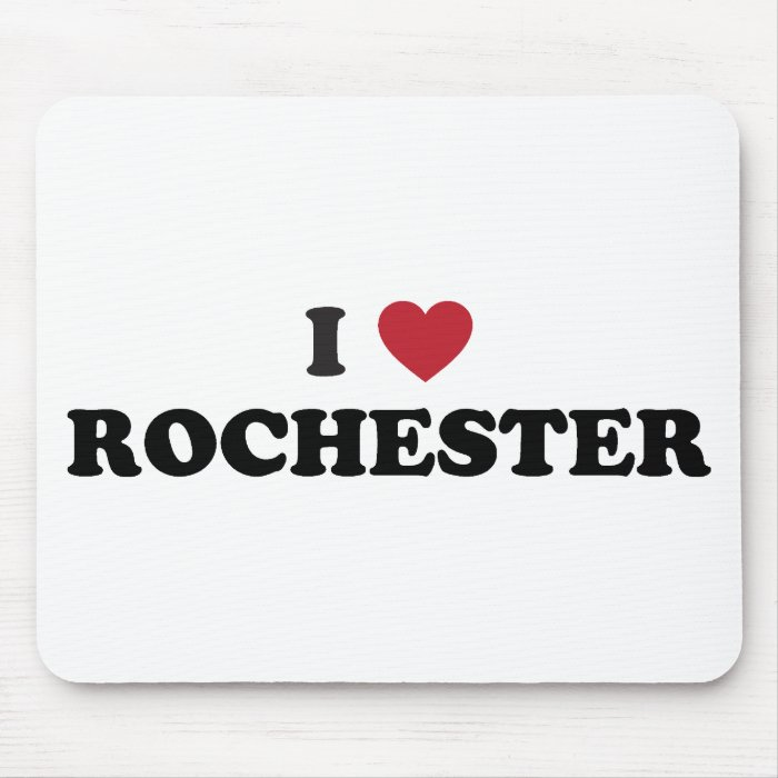 I Love Rochester New York Mouse Pad