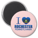 I Love Rochester, PA Refrigerator Magnet