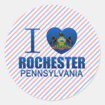 I Love Rochester, PA Round Sticker