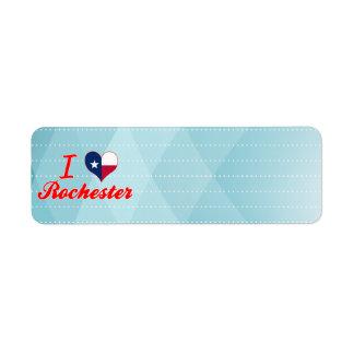 I Love Rochester, Texas Custom Return Address Labels