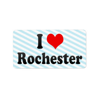 I Love Rochester, United States Personalized Address Label