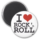 I love Rock and roll 2 Inch Round Magnet