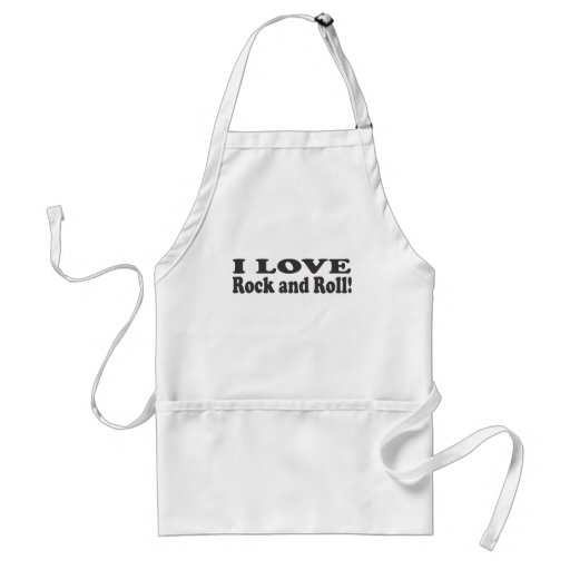 I Love Rock and Roll! Aprons