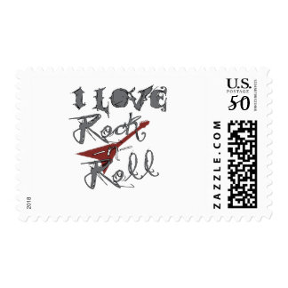 I love Rock and Roll Postage