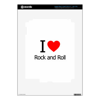 I Love Rock and Roll Decal For iPad 3