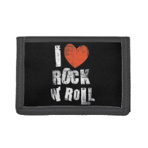 """I LOVE ROCK AND ROLL"" TRIFOLD WALLET"