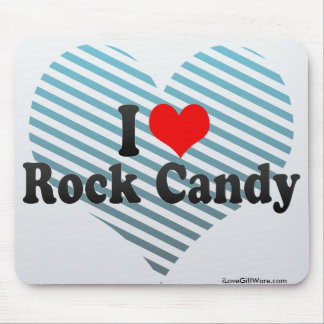 I Love Rock Candy Mouse Pad