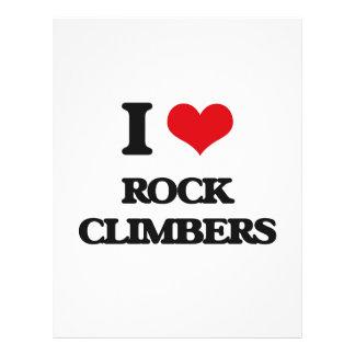 "I love Rock Climbers 8.5"" X 11"" Flyer"