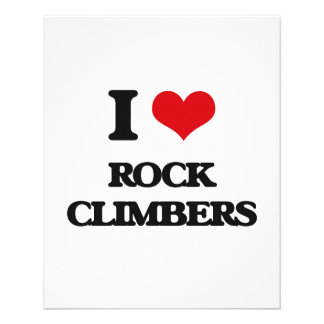 "I love Rock Climbers 4.5"" X 5.6"" Flyer"