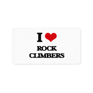 I love Rock Climbers Address Label