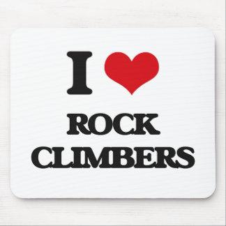 I love Rock Climbers Mouse Pad