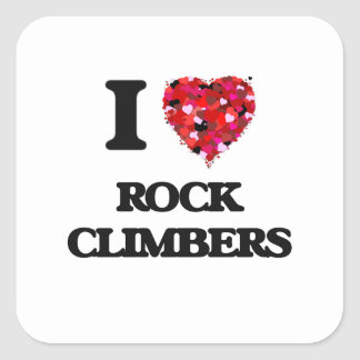 I love Rock Climbers Square Sticker