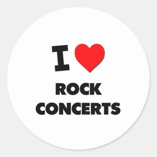 I love Rock Concerts Classic Round Sticker