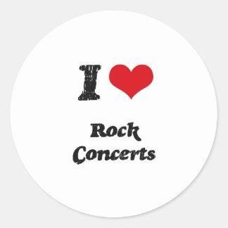 I love Rock Concerts Round Sticker