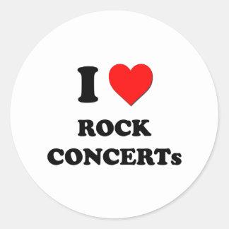 I love Rock Concerts Sticker