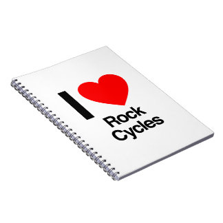 i love rock cycles notebook