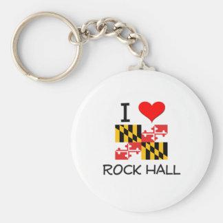 I Love Rock Hall Maryland Keychain