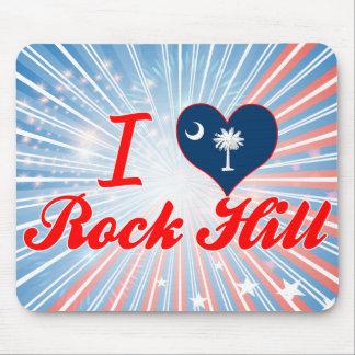 I Love Rock Hill, South Carolina Mouse Pad