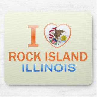 I Love Rock Island, IL Mouse Pad