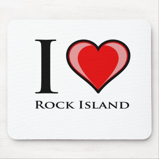 I Love Rock Island Mousepad